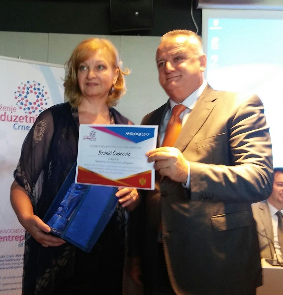 Branki Čvorović nagrada za doprinos ženskom preduzetništvu