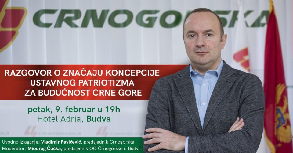 Razgovor o značaju koncepcije razvoja ustavnog patriotizma za budućnost Crne Gore