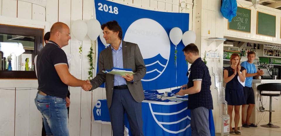 Prva Plava zastavica ove godine podignuta na plaži Kamenovo