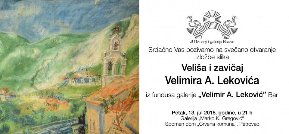 Izložba slika Velimira A. Lekovića u Petrovcu